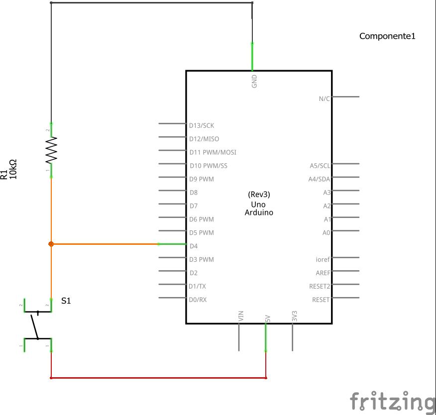 Schema pull-up pulsante Arduino